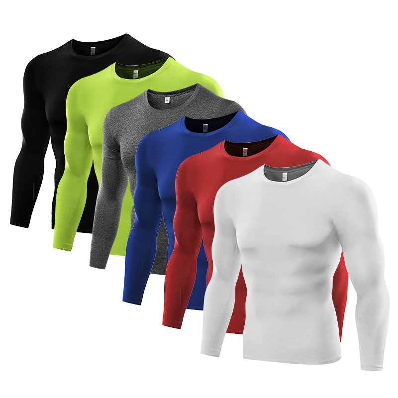 thumbnail 2 - Men Compression Shirt Thermal Base-Layer Fast Dry Sports Athletic Workout Tops