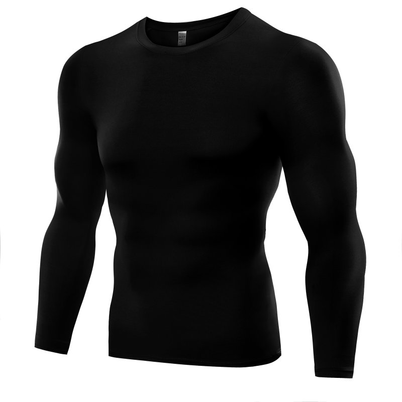 thumbnail 3 - Men Compression Shirt Thermal Base-Layer Fast Dry Sports Athletic Workout Tops